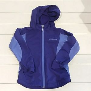 Columbia 4t purple zip-up lightweight jacket hood